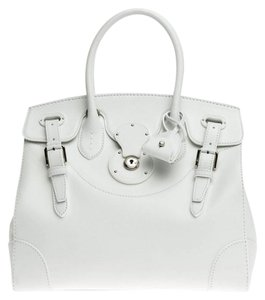 Ralph Lauren Collection Leather Tote in White