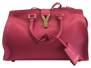 Saint Laurent Satchel in Hot Pink/Fuschia