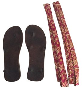 Sseko Brown, Maroon Sandals