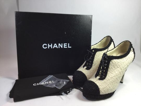 Chanel Black/Ivory Boots