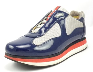Prada Men's Patent Leather Double Sole Sneakers
