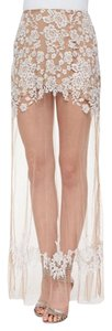 For Love & Lemons Maxi Skirt white/nude