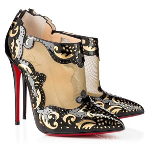 Christian Louboutin Bootie BLACK & GOLD Boots