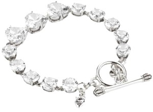 Juicy Couture 'Country Club Chic' Crystal CZ Hearts Tennis Bracelet Silver YJRUOB13
