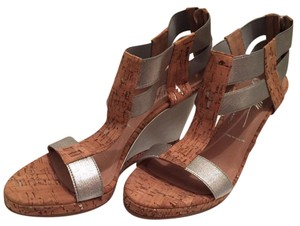 Donald J. Pliner Natural and Silver Sandals