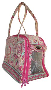 Vera Bradley Vera Bradley Pet Purse Cat Dog Carrier Travel Luggage Pink Melon