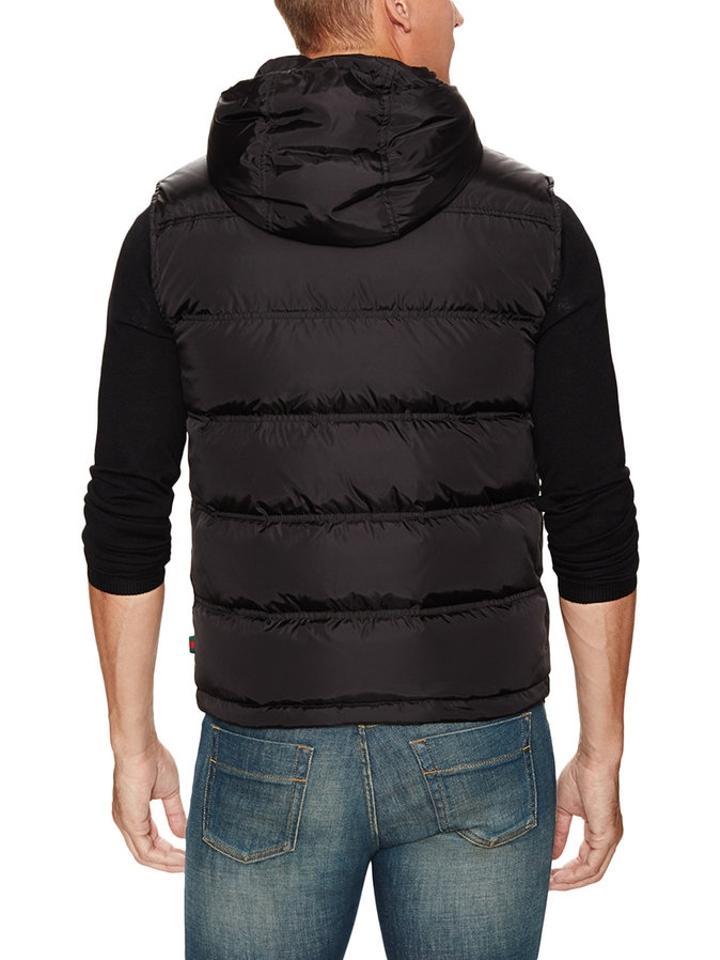 a209803cd Gucci Black Men's Down Filled Hooded Vest Size 8 (M) - Tradesy