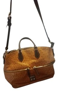 Dooney & Bourke Satchel in saddle Ostrich
