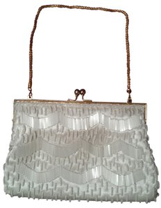 Other Beaded Hong Kong Satchel in White