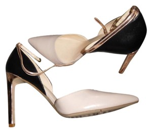 Nine West Ankle Strap Sexy Day Into Evening Holiday Beige/greige, black, gold Pumps