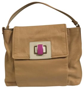 Kate Spade Satchel in Tan/Cream/Magenta