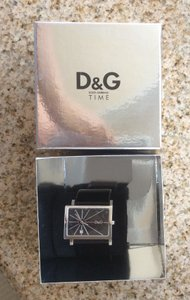 Dolce&Gabbana D&G black leather watch