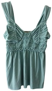 Max Studio Ruched Top aqua