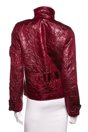 Baxis & Baxis & Shiny Red Crinkle Jacket on sale