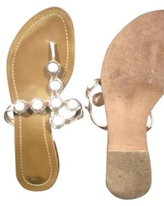 Nannini Embellished White Sandals