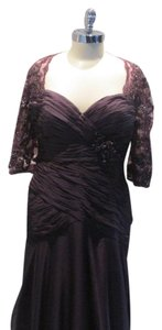Montage Purple Chiffon By Mon Cheri 213965 Mother Of Bride / Groom (Mon-1) Formal Bridesmaid/Mob Dress Size 14 (L)