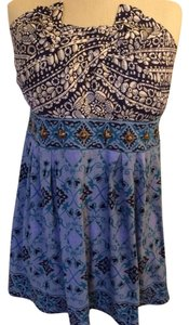 Anthropologie Embellished Top Blue