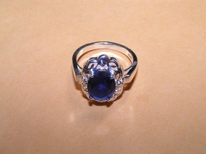 Royal Blue Fashion Ring Free Shipping