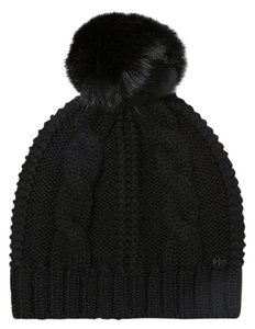 Tory Burch Tory Burch Large Cable knit pom pom hat (Gift Wrap Included)