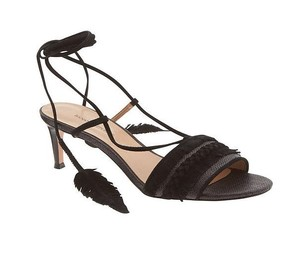 Banana Republic Leather Suede Elegant Black Sandals