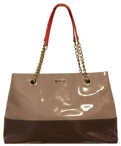 Kate Spade Tote in Dark/light Brown/0range straps