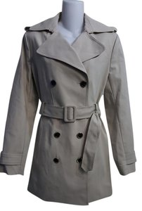 Calvin Klein Cotton Polyester Trench Coat