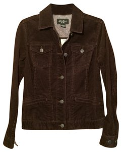 Eddie Bauer Corduroy Brown Jean Dark Brown Womens Jean Jacket