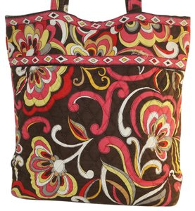 Vera Bradley Tote in Puccini Brown Red Yellow