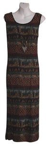 Safari Maxi Dress by Another Thyme Summer W/ Matching Necklace