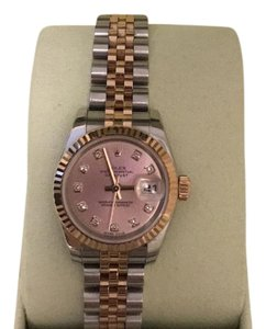 Rolex Rolex Datejust Rosegold With Diamond