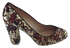 J.Crew Pump Sjoes Sequin Multi Gold Pumps