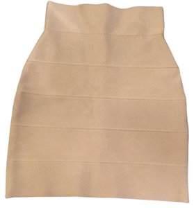 Hervé Leger Mini Skirt Off white