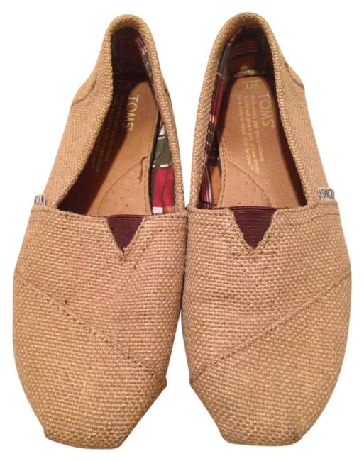Item - Tan Burlap Flats Size US 7 Wide (C, D)