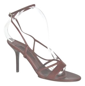 Narciso Rodriguez Leather Size 38.5 Burgundy Sandals