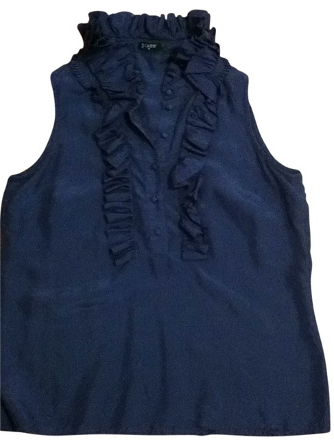 Preload https://item5.tradesy.com/images/jcrew-navy-blouse-size-6-s-197264-0-0.jpg?width=400&height=650