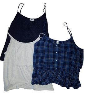 Old Navy Top Blue & White (Flannel)
