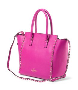 Valentino Rockstud Trapeze Tote in Pink