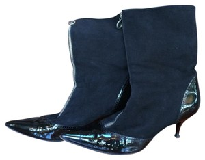 Marc Jacobs Italy Suede Zipper Black Boots