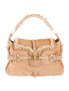 Jimmy Choo Pony Hair Studded Shoulder Bag