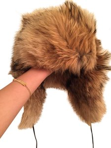 Saks Fifth Avenue Coyote Fur Aviator Hat (saks fifth avenue)