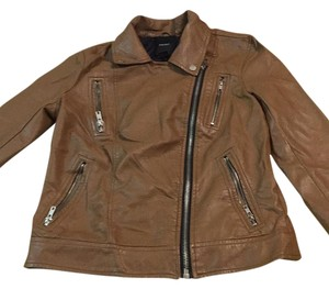 Forever 21 Khaki Leather Jacket
