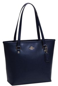 Coach Top Zip Zip Top Tote in Navy