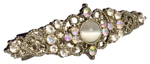 Other Rhinestone Crystal Hairclip Silver Tone