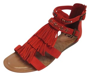 Gianni Bini New Size 10.00 M Leather Red Sandals