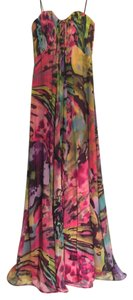 A.B.S. by Allen Schwartz Silk Maxi Special Occasion Floral Dress