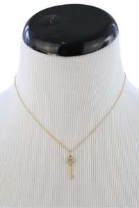 Tiffany & Co. Oval Diamond Key Pendant Necklace