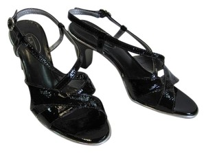 Talbots Size 6.00 Wide Good Condition BLACK, SILVER, Sandals