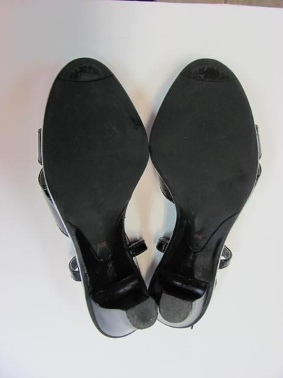 Talbots Size 6.00 Wide Good Condition BLACK Sandals