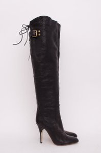 Chloé Chloe Leather Over Knee Black Boots