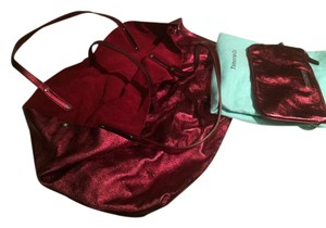 Tiffany & Co. Reversible Suede Red Tote in RED/RED Metallic